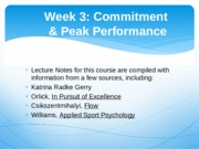 Week 3 Sport Psych Lecture