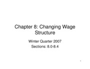 Lecture 8 Changing Wage Structure PDF