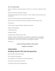 Columbia College SOC 111 - Midterm study guide.doc