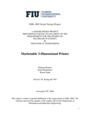Marketable3DPrinter-FinalReport-Fall2009