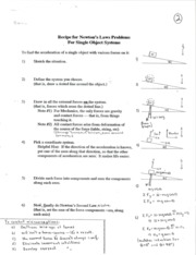 Buchanan_-_Recipe_for_Newton_s_Laws_Problems_for_Single_Object_Systems