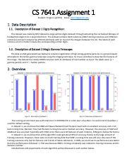 yli973-analysis-1 pdf - CS 7641 Assignment 1 Student Yinglin Li