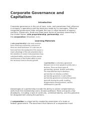 Corporate Governance and Capitalism.docx