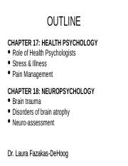 HEALTH AND NEURO
