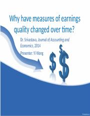 Earnings Quality Change_Srivastava_2014.pptx