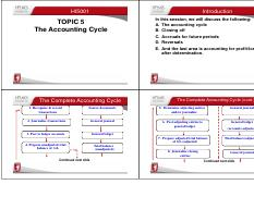Topic 5B The Accounting Cycle 2015