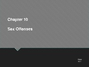Chapter 10 Sex Offenses