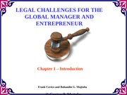 Chapter1 Legal Challenges