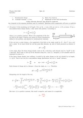 PHYS 2212 Fall 2014 Quiz 1 Solutions