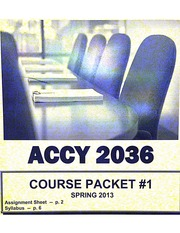Accounting 2036 Packet