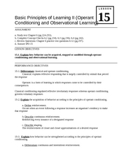 15 lesson Learning II
