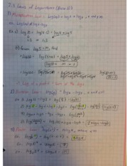 Pre-Calculus 12 Laws of Logaritms