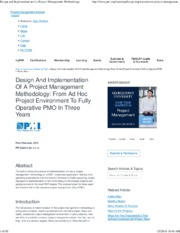 9-88-Design and Implementation of a Project Management Methodology