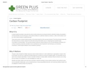 Carbon Footprint - Green Plus