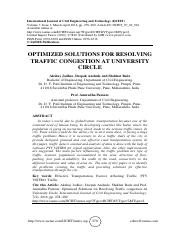 OPTIMIZED SOLUTIONS FOR RESOLVING TRAFFIC CONGESTION AT UNIVERSITY CIRCLE.pdf