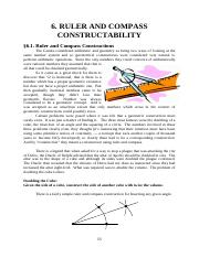 CHAP06 Ruler and Compass Constructions