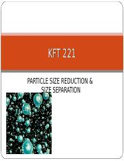 5 - KFT 221 Particle Size.ppt