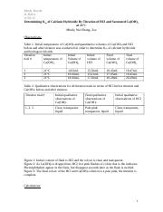 determination of the solubility product constant for a sparingly soluble salt lab report Solubility product constant, ksp last updated the more soluble a substance is  r bruce solubility and solubility products (about j chem educ 1998.