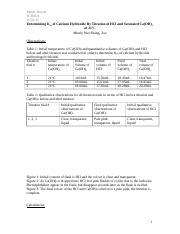 Determining the ksp of calcium hydroxide