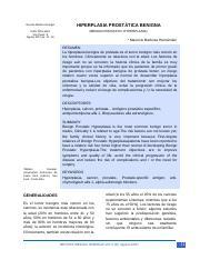 fisiopatología de la hiperplasia prostática