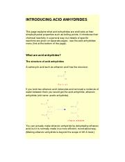 INTRODUCING ACID ANHYDRIDES