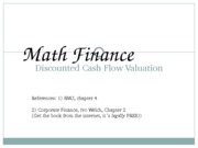 Finance1 - 04 - Mathematical Finance