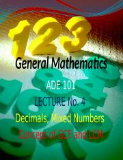 ADE Lecture-4