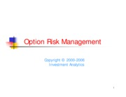 Option Risk Management