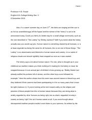 The Lottery Essay.docx
