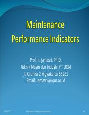 Maintenance performance indicators.ppt