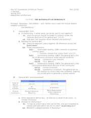 Lecture Outline for Lecture 8
