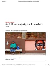 South Africa's inequality is no longer about race - Blurring the rainbow.pdf