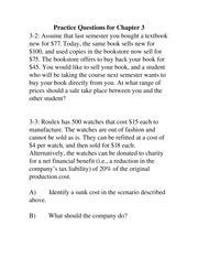 Practice Questions for ACTG 4400