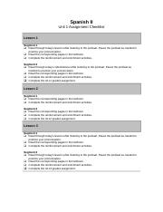 spanish2_U1_assignment_checklist