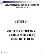 Concordia_Lecture6_May17_Final (1) - LABOUR AND INDUSTRIAL RELATIONS