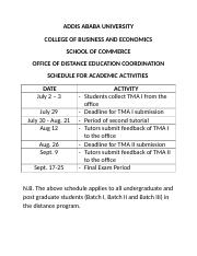SCHEDULE OF ACDEMIC ACTIVITIES (1)