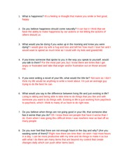 Happiness Interview Questions.B.B.