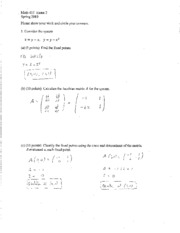 Math_415_Exam_2_Spring_2010 Answers
