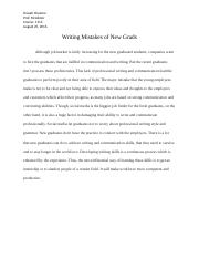 Writing Mistakes of New Grads