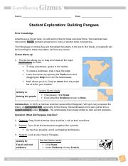 Building-Pangea-Gizmo - Name Date Student Exploration ...