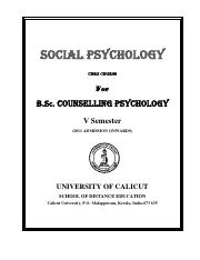 BSC Counselling