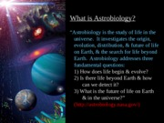 Introduction to Astrobiology (PowerPoint)