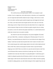 comm essay: The Affect of Stereotypes