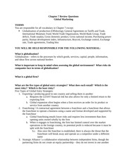 Global Marketing Review Sheet