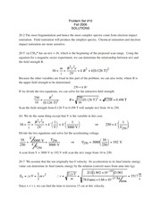 Chapter 20 Solutions (CHM3640)