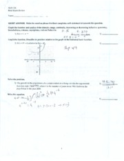 CSN - MATH 126 - FINAL EXAM REVIEW #1