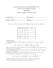 Sample Midterm with solution 2