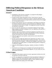 african american history Differing Political Responses to the African American Condition