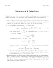 Homework #1 with Solutions