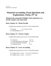 1 Gleim Recommend MC questions 19th edition for Midterm I